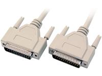 MicroConnect DB25-DB25 10m M/M, Beige