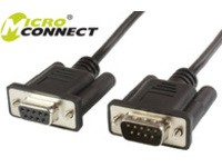 MicroConnect DB9-DB9 3m M/F Black