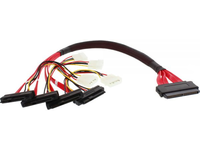 MicroConnect SFF-8484 to 4 x SFF-8482 50cm