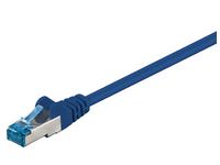 MicroConnect S/FTP CAT6A 0.25M Blue LSZH