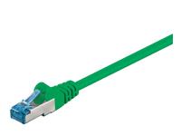 MicroConnect S/FTP CAT6A 0.25M Green LSZH