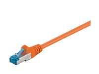 MicroConnect S/FTP CAT6A 0.25M Orange LSZH