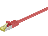 MicroConnect S/FTP CAT7 0.25m Red LSZH