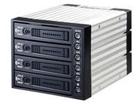 "MicroStorage 3 x 5.25\"" bay for 4 HDD Black"