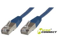 MicroConnect F/UTP CAT6 0.15m Blue LSZH