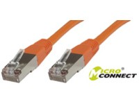 MicroConnect F/UTP CAT6 0.15m Orange LSZH