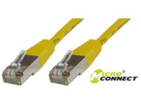 MicroConnect F/UTP CAT6 0.15m Yellow LSZH