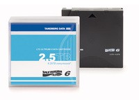 Tandberg Data Cartridge LTO-6 with case.