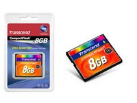 Transcend 8GB CF CARD (133X, TYPE I )