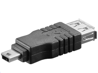 MicroConnect Adapter USB A-B 5pin mini F-M