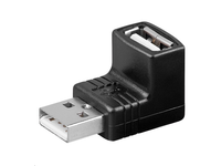 MicroConnect Adapter USB A - A 90? M-F