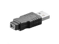 MicroConnect Adapter USB A-B 5pin mini M-F