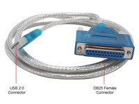 MicroConnect USB to Parallel DB25 female