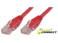 MicroConnect U/UTP CAT5e 0.25M Red PVC