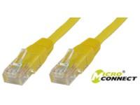 MicroConnect U/UTP CAT5e 0.5M Yellow PVC