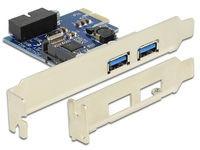 Delock 2 x ext. USB 3.0, LP, PCIe
