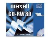 Maxell CD-RW 80 Jewelcases 10 pcs