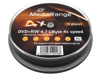 MediaRange 10 x DVD+RW, 4.7 GB