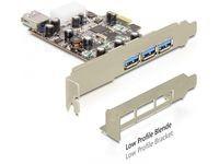 Delock 3 x USB3.0 ext + 1x int, PCIe