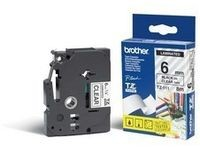 Brother Tape Black on Clear 6mm