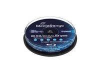 MediaRange 50GB 10pcs BD-R cake 6x
