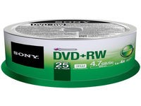 Sony DVD+RW (REWR.) 4X SPINDLE