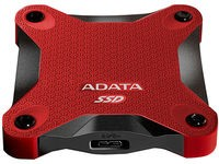 ADATA 256GB SD600 SSD, Black/Red
