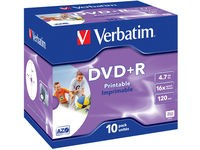Verbatim DVD+R  16X, 4.7GB Wide Print.