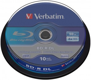 Verbatim BD-R DL 50GB 6X 10 pack