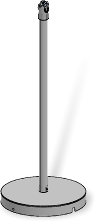 SpacePole FLOORSTAND W/DURATILT FLIP-