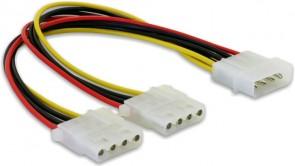 Delock Y-Cable Power > 2x 4pin Molex