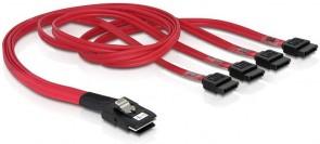 Delock Cable mini SAS 36pin>4x SATA