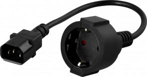 PowerWalker IEC C14 to Schuko converter
