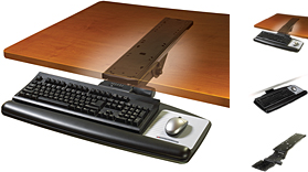 3M Adjustable Keyboard+Mouse Tray