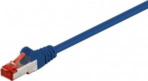 MicroConnect F/UTP CAT6 0.25m Blue PVC