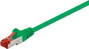 MicroConnect F/UTP CAT6 0.5m Green PVC