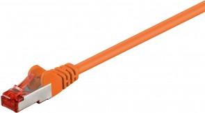 MicroConnect F/UTP CAT6 0.5m Orange PVC