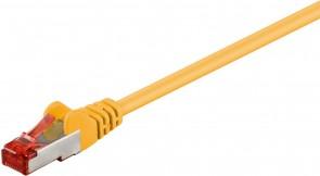 MicroConnect F/UTP CAT6 0.5m Yellow PVC