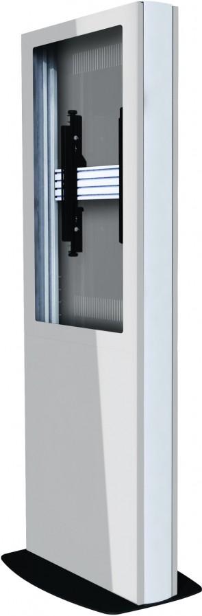 B-Tech Digital Signage Kiosk, White