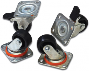 MicroConnect Lockable castors for cabinets