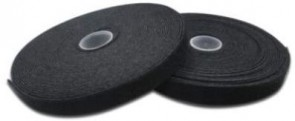 MicroConnect Velcro Tape, 10m, Black