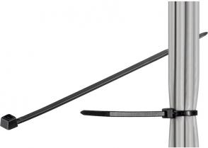 MicroConnect Cable tie 100pcs Black