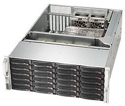 Supermicro 4U, 1280W PS (redundant,