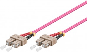MicroConnect SC/UPC-SC/UPC 0.5m 50/125 OM4
