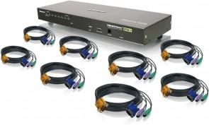 IOGEAR 8-Port Combo VGA KVMP