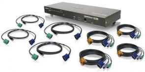 IOGEAR 8-Port Combo VGA KVMP Switch