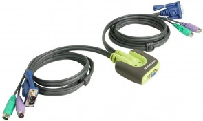IOGEAR 2 Port Compact PS/2 KVM Switch
