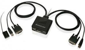 IOGEAR 2-Port USB DVI Cable