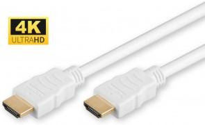 MicroConnect HDMI v1.4 19-19 0.5m M-M White
