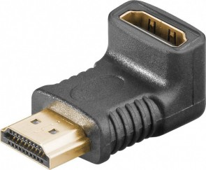 MicroConnect HDMI 19 Angled Adaptor F-M